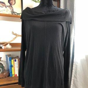 Anthropologie Bordeaux Cowl Neck Shirt Large